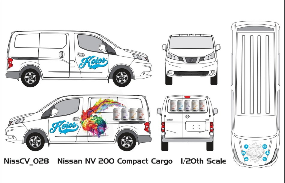 Koios Beverage Corp. is preparing a fleet of branded delivery vans as part of its plan to adopt a Direct Store Delivery model of distribution in its home state of Colorado. (CNW Group/Koios Beverage Corp.)