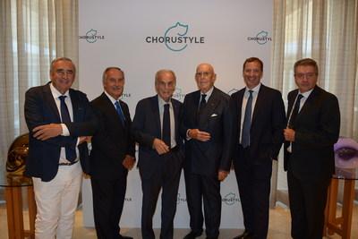 Chorustyle Press Conference, Milan 2018 - From left: Guglielmo Pelliccioli, Gianluigi Belotti, Cav.Lav. Domenico Bosatelli, Cav.Lav. Mario Boselli, Fulvio Giuliani, Gianpaolo Sana