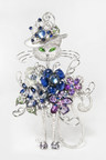 Harry Lu's cat collection, titled 'Refined', is an intricate blend of diamonds, sapphires, Tsavorite and moonstones.