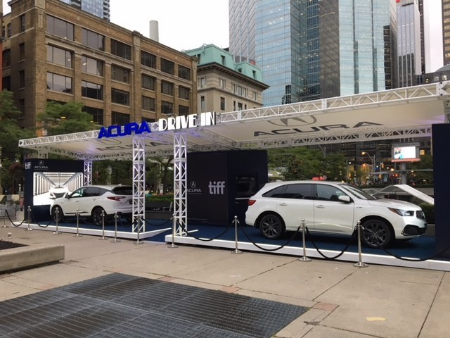 For the first time, Acura Canada is hosting an interactive Acura Drive-In on-site activation that will allow movie goers to take a seat in ultimate comfort in Acura's all-new 2019 RDX A-Spec and MDX A-Spec models, while enjoying a fun and unique cinematic experience. (CNW Group/Honda Canada Inc.)
