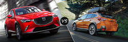 The 2019 Mazda CX-3 and 2019 Subaru Crosstrek are two similar crossovers that are being put head-to-head by Matt Castrucci Mazda.