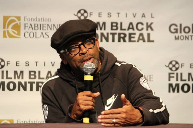 SPIKE LEE is back to the 14th Montreal Intl Black Film Festival, on September 26, 2018 at Imperial Cinema (CNW Group/Montreal International Black Film Festival)