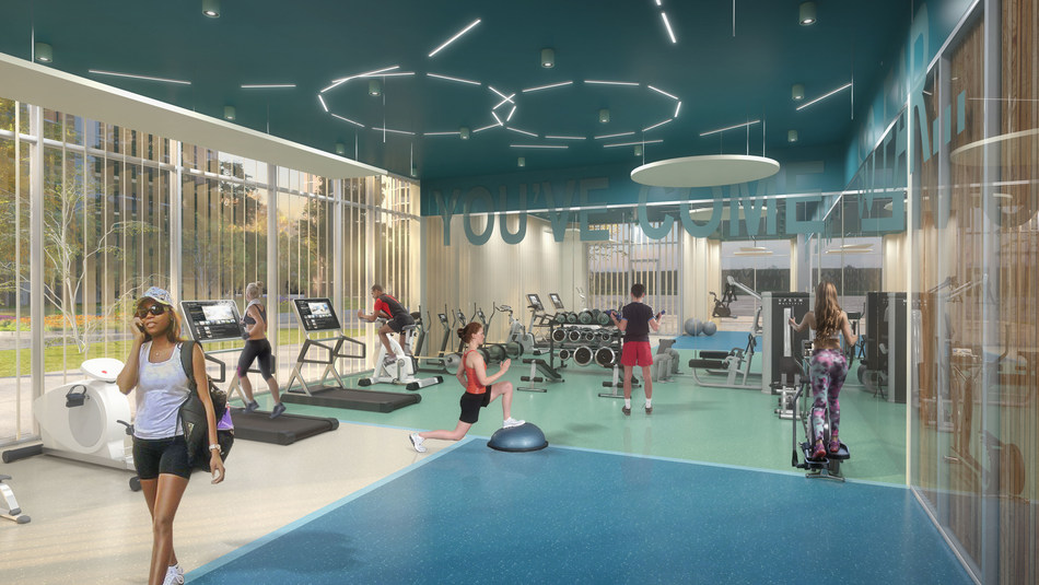 Rendering of fitness room – 1235 Marlborough in Oakville, Ontario (CNW Group/The Minto Group)