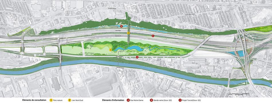 Plan du secteur. (Groupe CNW/Office de consultation publique de Montréal)