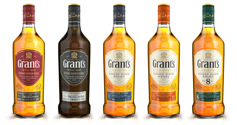 Grant's New Line-Up (PRNewsfoto/William Grant & Sons)