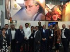 Chefs Francesco Mazzei and Antonio Callipari with the delegates of Regione Calabria and Calabrian companies at the Specialty & Fine Food Fair 2018 (PRNewsfoto/Regione Calabria)