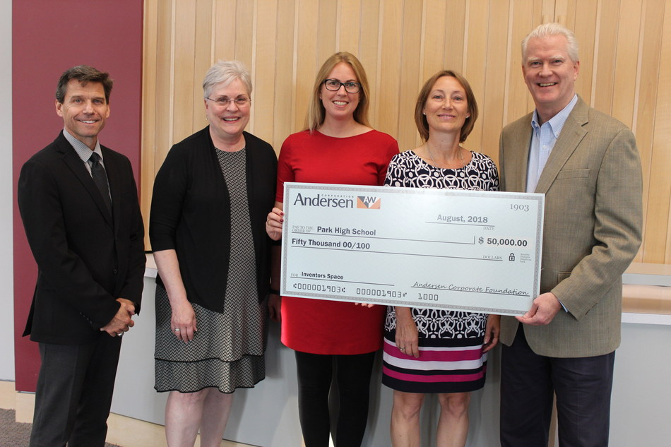 Andersen Corporation Awards $50,000 Grant to Park High School for STEM Inventor Space