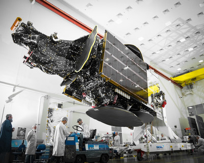 The Telstar 18 VANTAGE communications satellite, built by SSL for Telesat, is performing according to plan. (CNW Group/Maxar Technologies Ltd.)