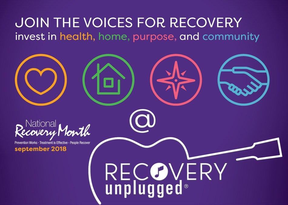 """""""Join the voices"""" this National Recovery Month with us at Recovery Unplugged!"""