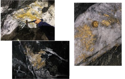 Fig. 3: Gold in quartz from 15 level at Beta Hunt mine recovered in September 2018 (CNW Group/RNC Minerals)