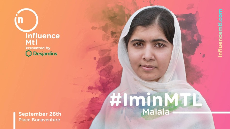 INFLUENCE MTL WELCOMES NOBEL PEACE PRIZE WINNER MALALA YOUSAFZAI (CNW Group/Influence Mtl)