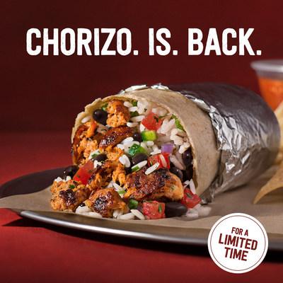 You Asked, Chipotle Answered. Chorizo Returns.