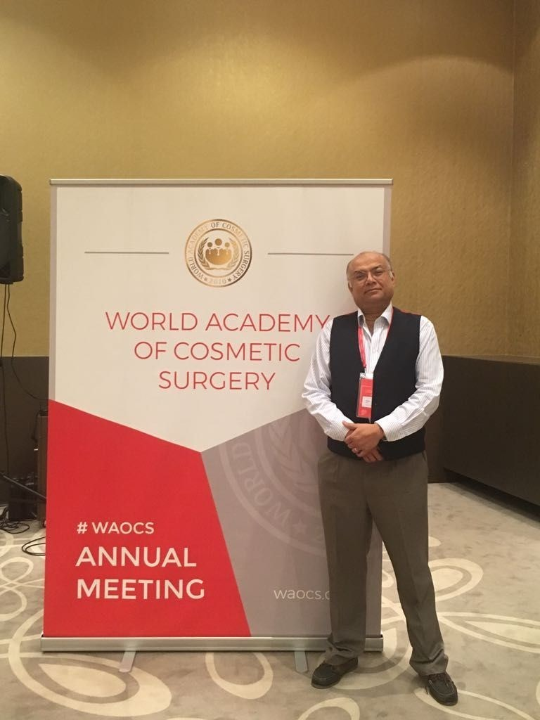 Dr. Ash Dutta (UK), Founder of Aesthetic Beauty Centre,  Appointed Vice-President of WAOCS (World Academy of Cosmetic Surgery) at Annual Meeting 2018 in Vienna. (PRNewsfoto/Aesthetic Beauty Centre)