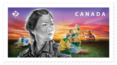 Canada Post stamp honours the country's paramedics (CNW Group/Canada Post)