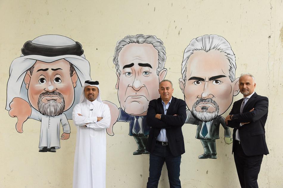 Stars of Science jury members (from left to right): Dr. Khalid Al-Ali, Prof. Abdelhamid El-Zoheiry, and Prof. Fouad Mrad (PRNewsfoto/Stars of Science)