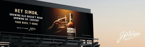 Billboards across Canada share personal toasts from one friend to another in J.P. Wiser's new campaign. (CNW Group/J.P. Wiser''s)
