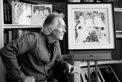 """It started in Hamburg"": Klaus Voormann, legendary musician, friend of the Beatles, designer of the Beatles' iconic Revolver album cover and Grammy Award winner, will be launching a new exhibition from 19 to 23 September 2018 at the Reeperbahn Festival Hamburg. The show is dedicated to Voormann's substantial creative work and pays tribute to the Beatles' Hamburg years (photo: genisispublicationguildfort) (PRNewsfoto/Hamburg Marketing GmbH)"
