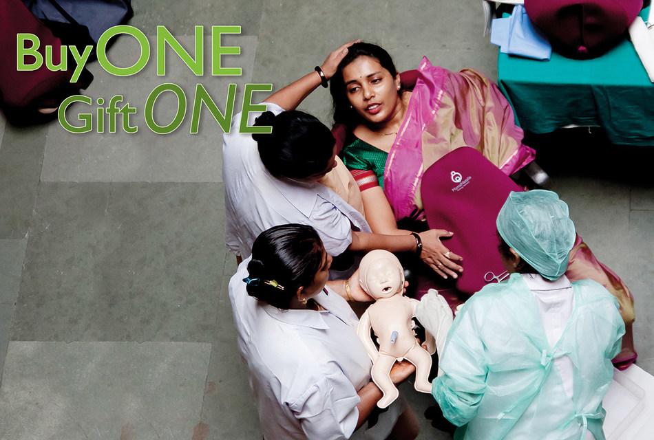 As part of the 'Buy One, Gift One' Program, for each birthing simulator purchased through Laerdal Medical, a second one is donated to support the Helping Mothers Survive initiative.