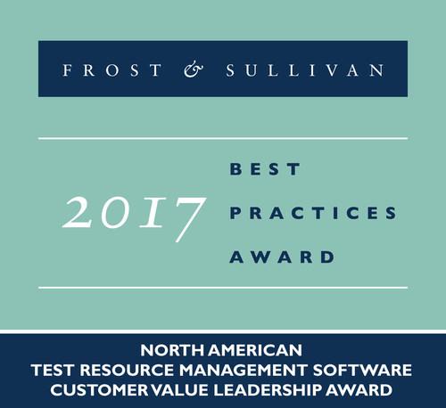 2017 North American Test Resource Management Software Customer Value Leadership Award (PRNewsfoto/Frost & Sullivan)