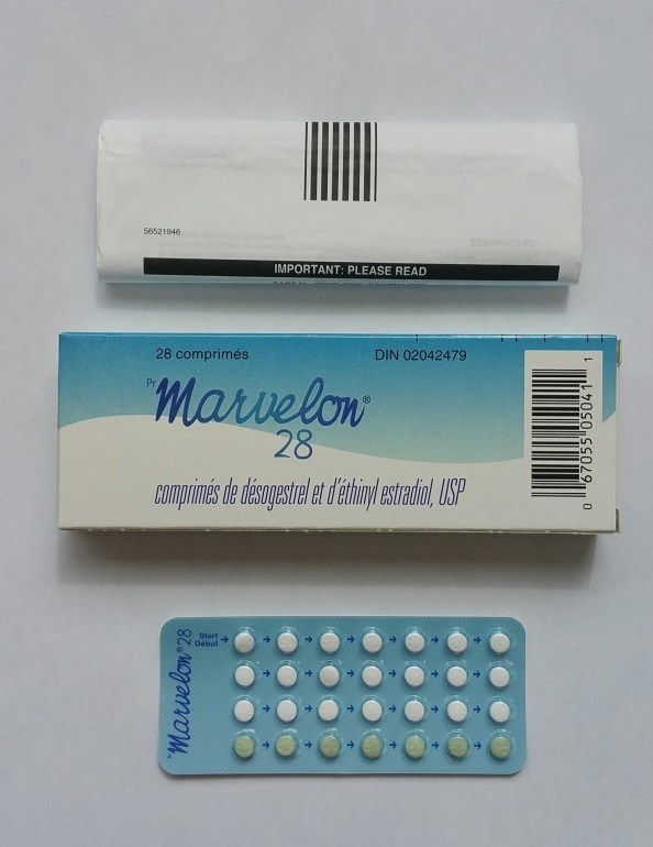 Marvelon 28 pills (package does not contain day-of-the-week stickers) (CNW Group/Health Canada)