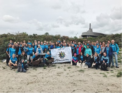 Over 100 employees from LyondellBasell's Rotterdam office volunteered to clean up the South Holland Beach during the company's 19th Annual Global Care Day event, during which 67 manufacturing sites and offices performed community service projects around the world.