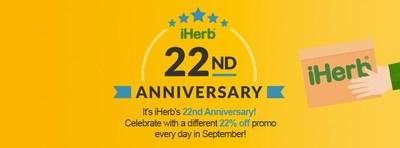 iHerb Celebrates its 22nd Anniversary!