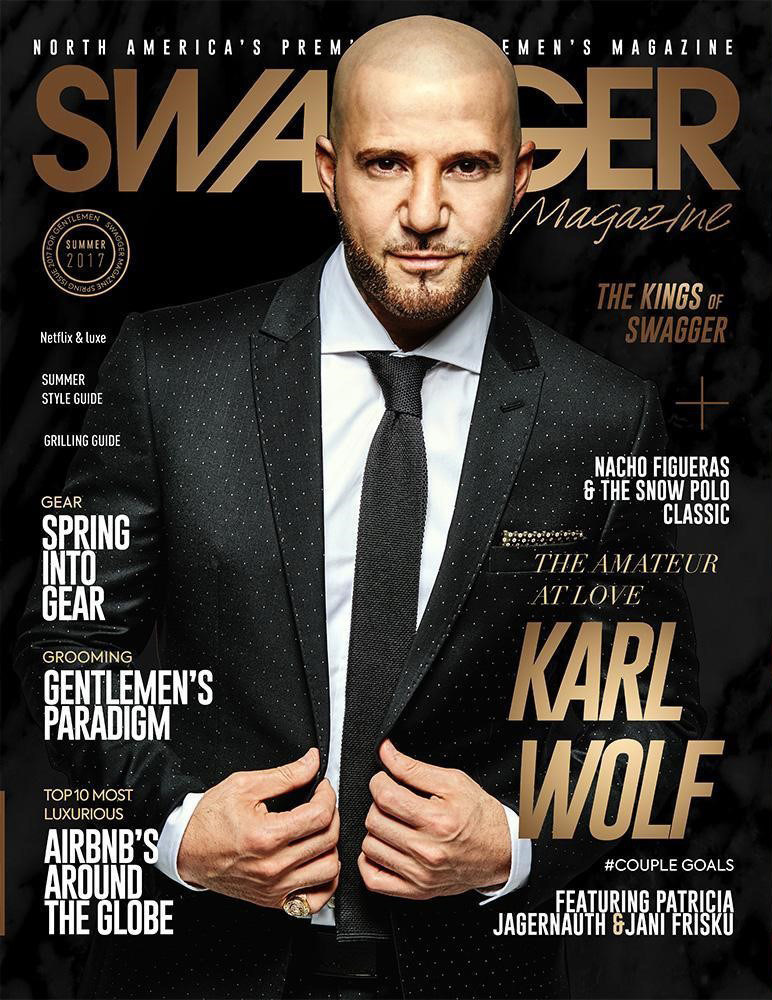 SWAGGER Magazine cover featuring Karl Wolf (Photo: Michael Stuckless) (CNW Group/Swagger Publications Inc.)
