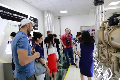 Journalists visit Haier COSMOPlat in the Sino-German Ecopark