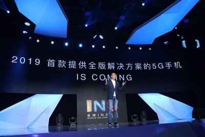 George Zhao fala sobre os três níveis de contribuidoras da tecnologia 5G na Conferência INS e anuncia que a Honor lançará seu primeiro dispositivo com 5G em 2019 (PRNewsfoto/Honor)