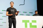 Gil Perry, CEO and Co-Founder, and Dr. Yoav Hacohen, Technology Architect, launch D-ID's product for protecting identities from face recognition onstage at TechCrunch Disrupt San Francisco 2018. (PRNewsfoto/D-ID)