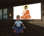 Jeremy in the EvolVR Meditation Space