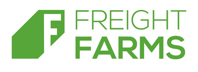 In 2012, Freight Farms debuted the first vertical hydroponic farm built inside an intermodal shipping container—the Leafy Green Machine—with the mission of democratizing and decentralizing the local production of fresh, healthy food. Now with the Greenery and integral IoT data platform, farmhand®, Freight Farms' global customer base ranges from entrepreneurial small business farmers to corporate, hospitality, retail, education, and nonprofit sectors. (PRNewsfoto/Freight Farms)