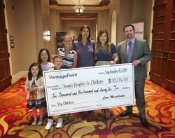 VantagePoint Software Donates $10,000 to Shriners Hospitals for Children at Fall Power Trader Seminar (PRNewsfoto/VantagePoint Software)