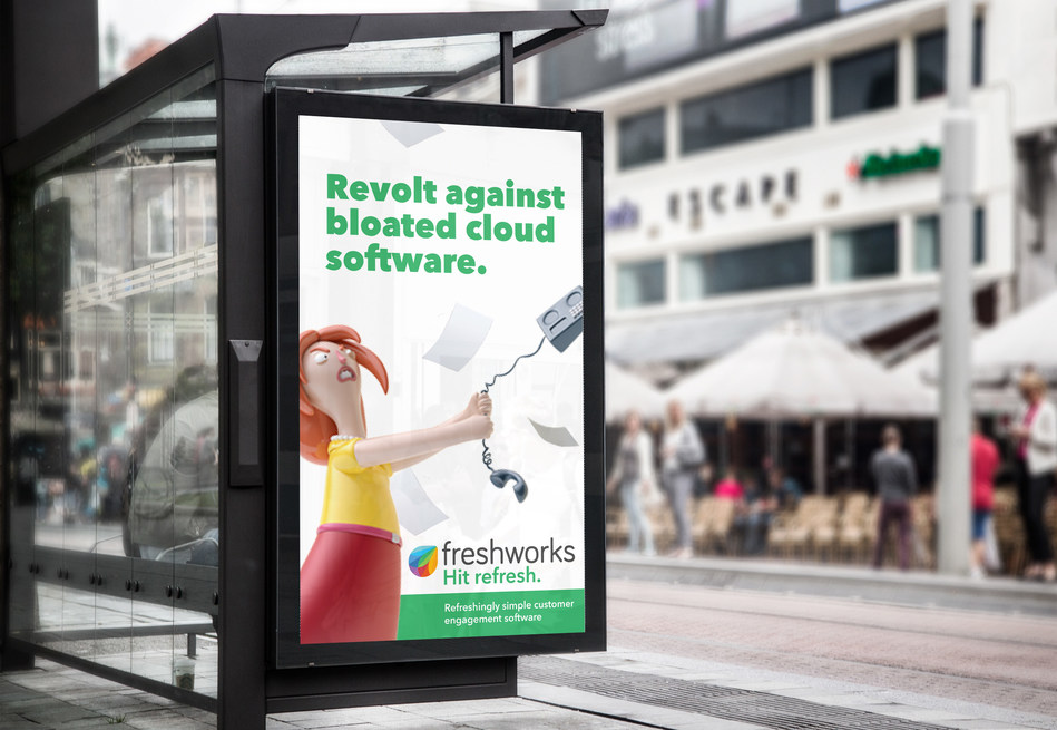 Bus shelter hit refresh ad