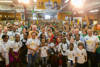 On behalf of her brand, O, That's Good!, Oprah Winfrey joined Rodney McMullen, Kroger's chairman and CEO, to surprise more than 100 youth and adult volunteers at Kroger's Zero Hunger | Zero Waste anniversary celebration at the Freestore Foodbank on Tuesday, Sept. 11, 2018 in Cincinnati. AP Images