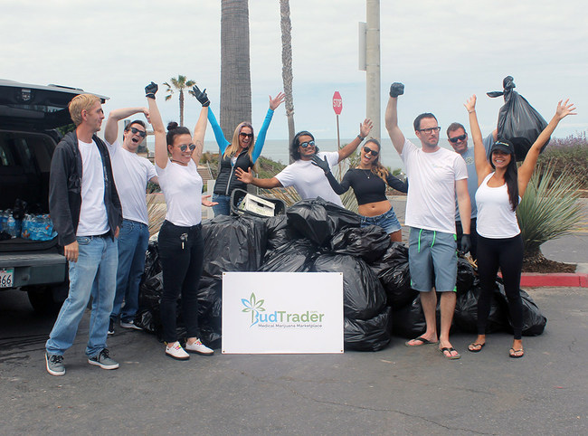 Hundreds of volunteers clean up California beaches.