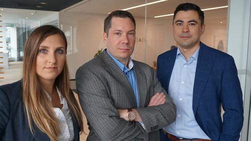Sara Pearson, Trevor Heisler and Matt Hiraishi (CNW Group/NATIONAL Public Relations - Toronto)