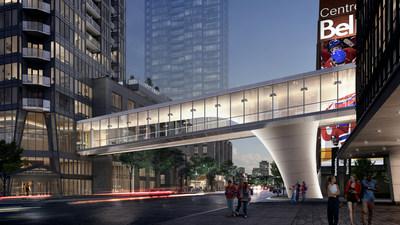 Lancement officiel des travaux de construction de la Passerelle Quad Windsor qui reliera la Tour des Canadiens 2 et 3 à la Tour Deloitte et au Centre Bell (Groupe CNW/Tour des Canadiens 2 et 3)