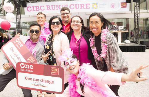 CIBC kicks off its corporate match campaign in support of the Canadian Cancer Society CIBC Run for the Cure. On September 12 and 13, CIBC will match every online donation made, dollar for dollar, up to $500,000. For more information: https://bit.ly/2N7qSQf. (CNW Group/CIBC)