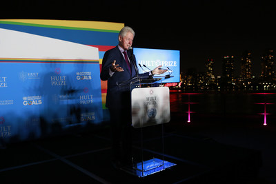 42nd President of the USA, President Bill Clinton will return to the United Nations on September 15, 2018 to announce the UN Hult Prize Recipient and kickoff the 10th Year Anniversary Challenge of the Hult Prize Foundation. Pictured above, minutes before announcing the recipient of last year's UN Hult Prize at the headquarters of the UN, which comes with a startup grant of US$1,000,000 - the world's largest award for youth in the impact sector.