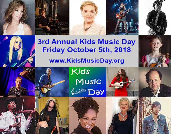 Special thanks to our Kids Music Day Ambassadors: Julie Andrews, Richie Sambora, Nancy Wilson of Heart, Sarah McLachlan, Victor Wooten, Jim Brickman, Siedah Garrett, Todd Rundgren, Orianthi, Alma Deutscher, Damien Escobar, Mandy Harvey, Bernie Williams, Jan Hammer, Amy Holland & Charlie Worsham