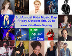 "Celebrities & Music Brands Show Support for 3rd Annual ""Kids Music Day"" October 5th"