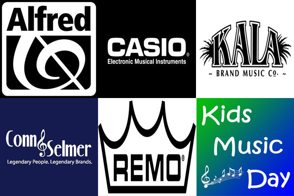 Special thanks to Alfred Music, Casio EMI, Conn-Selmer, Kala Brand Music and Remo for supporting Kids Music Day!