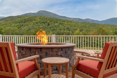 The view of Mt. Washington, the highest summit in the Northeast, from the deck of The Glen House.