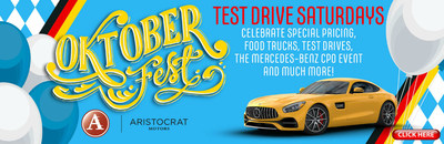 Oktoberfest Test Drive Saturdays at Aristocrat Motors celebrate German heritage and offer luxury test drives and a party atmosphere. They will run Saturdays from now until the end of October 2018.
