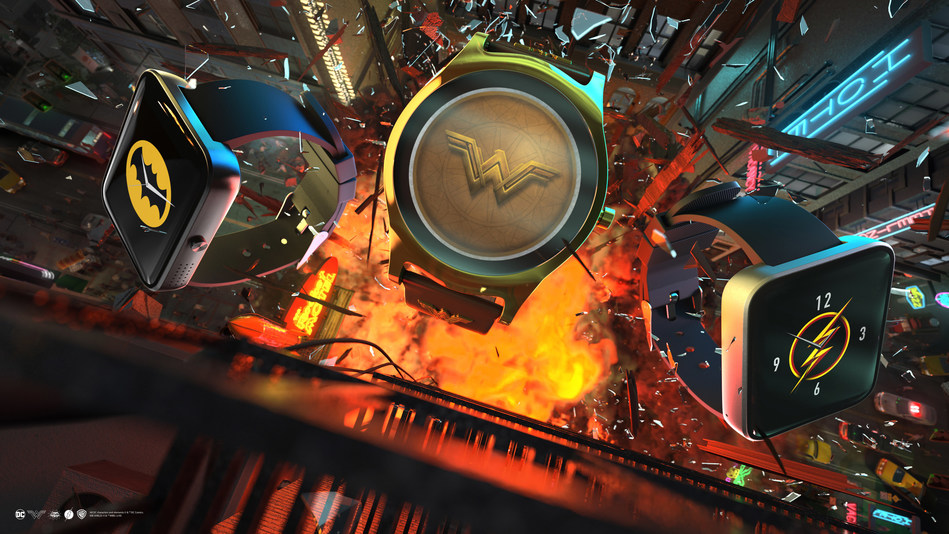 One61 New Super hero Smartwatch Collection Offers DC Fans A Gamified Experience with Batman™, The Flash™, and Wonder Woman™