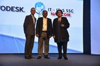L to R  Mr Pradeep Nair, Managing Director, Autodesk, India & SAARC, Dr. V. G. Gaikar, Vice-Chancellor, Dr. Babasaheb Ambedkar Technological University and Dr Sandhya Chintala, Executive Director, ITes Sector Skill Council, NASSCOM. (PRNewsfoto/Autodesk)