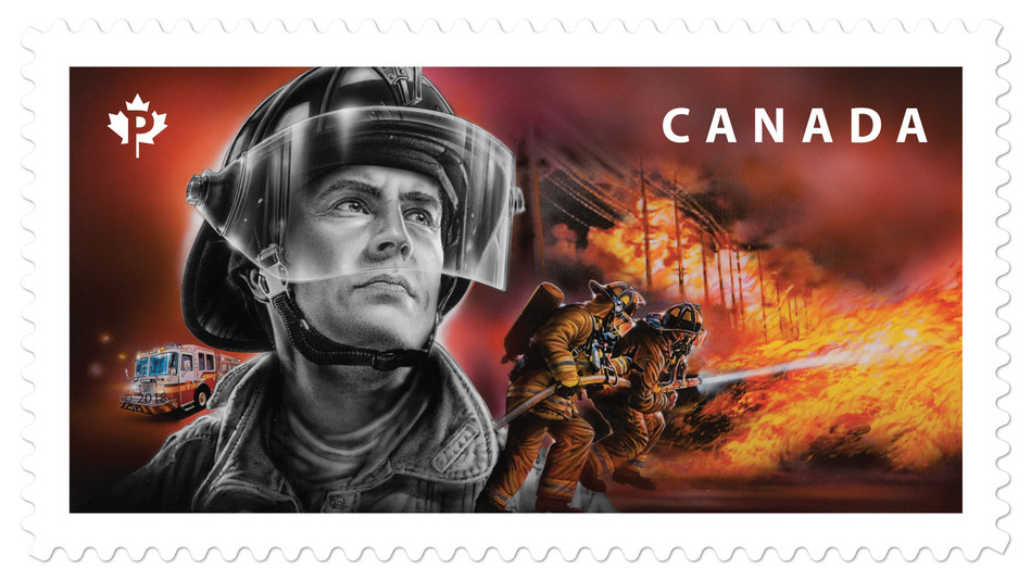 Canada Post honours the country's firefighters with stamp (CNW Group/Canada Post)