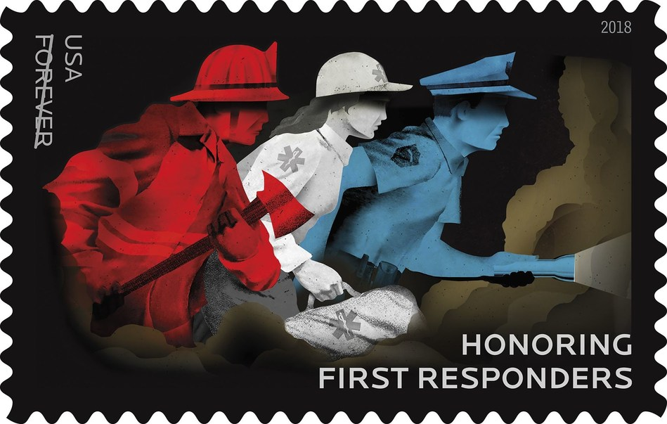 Firefighters, law enforcement officers, emergency medical service professionals and other emergency personnel are being recognized today by the U.S. Postal Service at a special first-day-of issue ceremony for the Honoring First Responders Forever stamp.