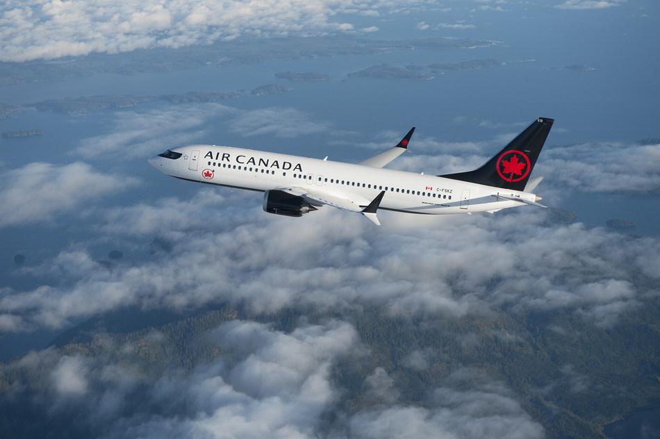 Air Canada's Boeing 737MAX. (CNW Group/Air Canada)